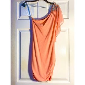 *NWT* CORAL ONE SHOULDER HOMECOMING DRESS-SMALL